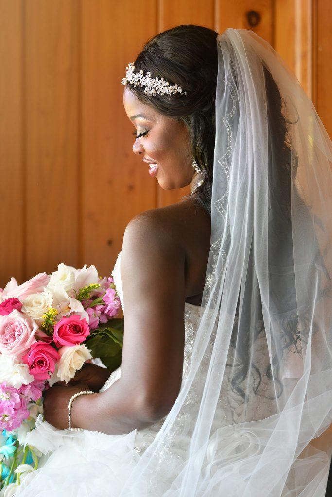 stunning bride portrait